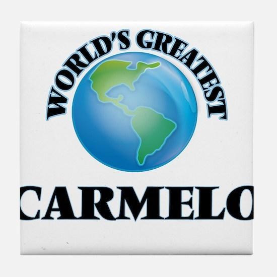 World's Greatest Carmelo Tile Coaster