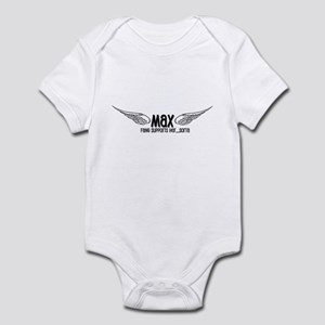 Max-Fang supports her, sorta Infant Bodysuit