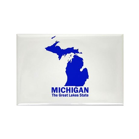 Michigan . . . The Great Lake Rectangle Magnet