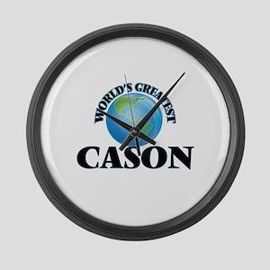 World's Greatest Cason Large Wall Clock