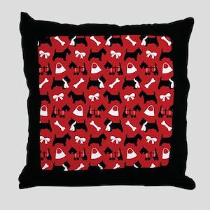 Scottie dog Lover Throw Pillow