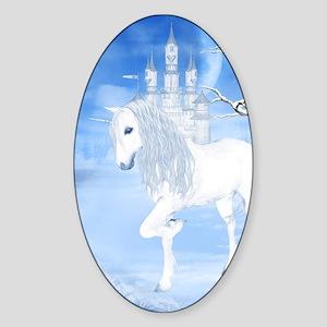 The White Unicorn Sticker