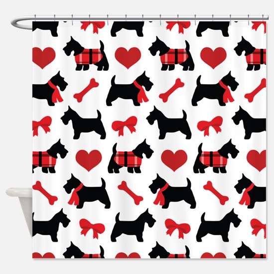 Scottie dog Lover Shower Curtain