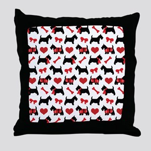 Scottie dog Lover Throw Pillow