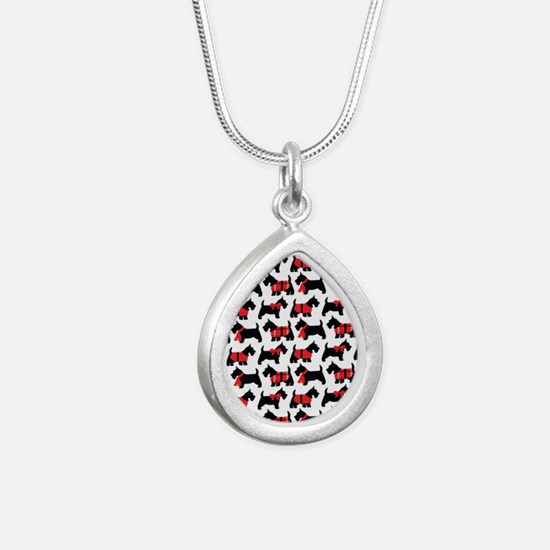 Scottish Terrier lover Silver Teardrop Necklace