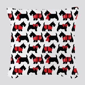 Scottish Terrier lover Woven Throw Pillow