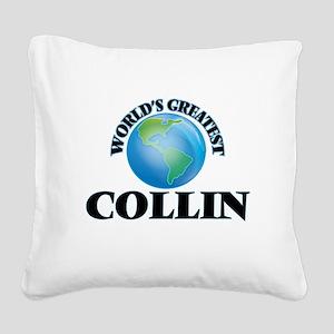 World's Greatest Collin Square Canvas Pillow