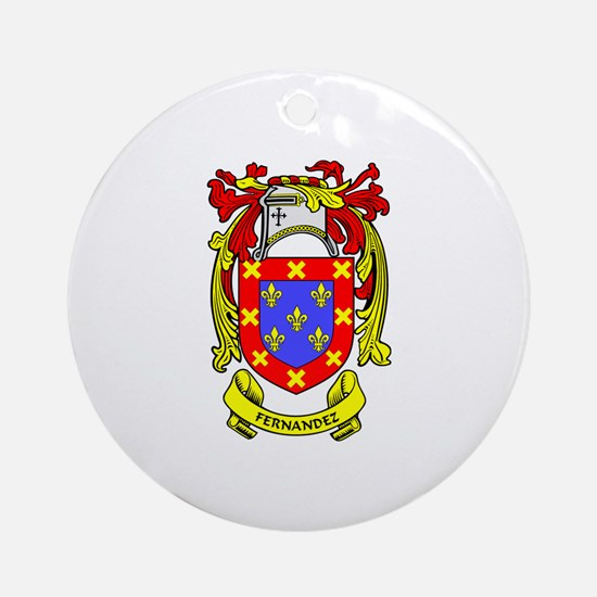 FERNANDEZ Coat of Arms Ornament (Round)