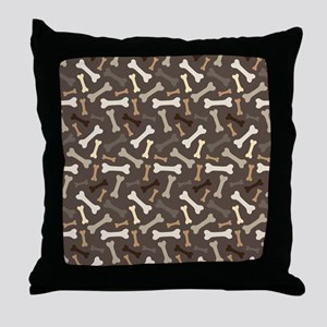 Dog Lover pet bone Throw Pillow