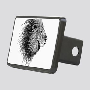 Lion (Black and White) Rectangular Hitch Cover