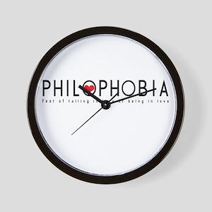 """""""Philophobia"""" Wall Clock"""