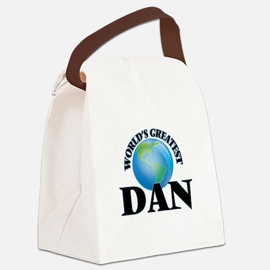 World's Greatest Dan Canvas Lunch Bag