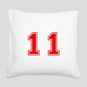 11-var red Square Canvas Pillow