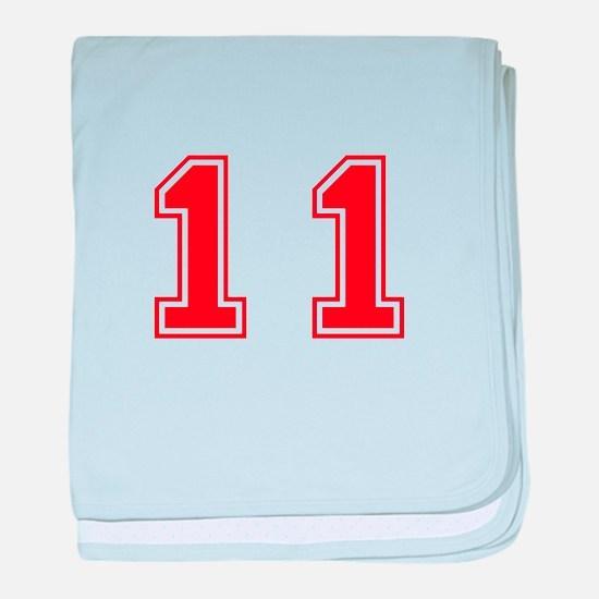 11-var red baby blanket