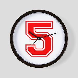 5-var red Wall Clock