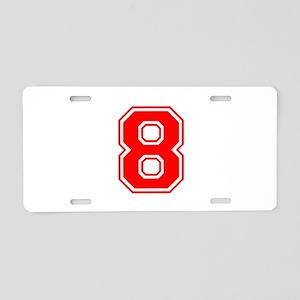 8-var red Aluminum License Plate