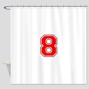 8-var red Shower Curtain