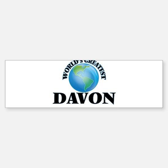 World's Greatest Davon Bumper Bumper Bumper Sticker