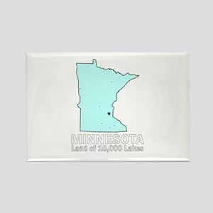 Minnesota . . . Land of 10,00 Rectangle Magnet