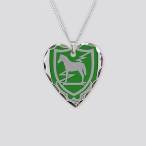 10th Special Forces Group - E Necklace Heart Charm