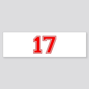 17-var red Bumper Sticker