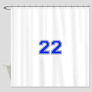 22-var red Shower Curtain