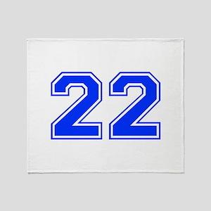 22-var red Throw Blanket
