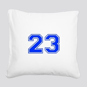23-var red Square Canvas Pillow