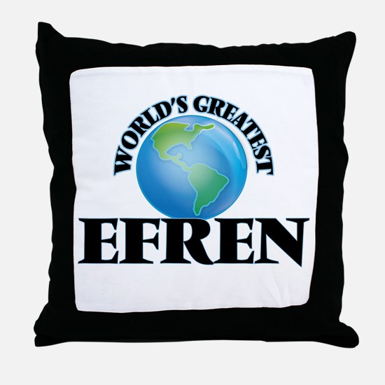 World's Greatest Efren Throw Pillow