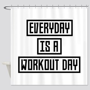 Workout Day fitness Cx41w Shower Curtain