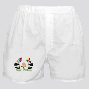 Birthday Pandas Boxer Shorts