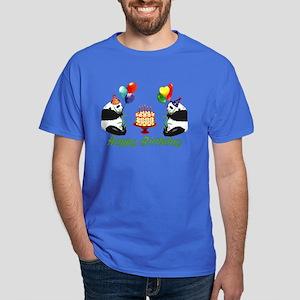 Birthday Pandas Dark T-Shirt