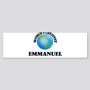 World's Greatest Emmanuel Bumper Sticker