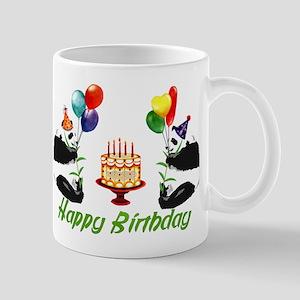 Birthday Pandas Mug