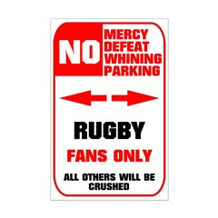 NO PARKING Rugby Sign Posters