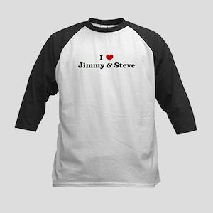 I Love Jimmy & Steve Kids Baseball Jersey