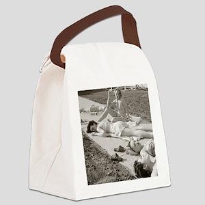 Girls Sunbathing, 1943 Canvas Lunch Bag