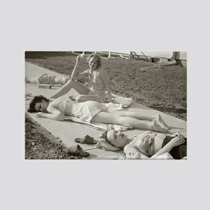 Girls Sunbathing, 1943 Magnets