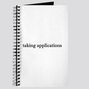 Taking Applications Journal
