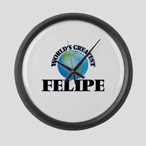 World's Greatest Felipe Large Wall Clock