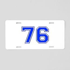 76-var Aluminum License Plate