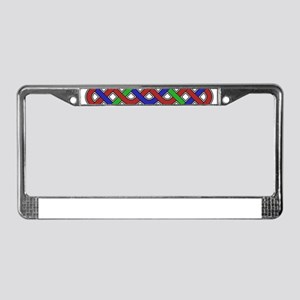 Blue, Green and Red Celtic Kno License Plate Frame