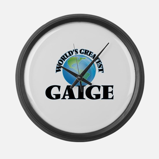World's Greatest Gaige Large Wall Clock