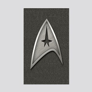 Star Trek Insignia Metal Sticker (Rectangle)