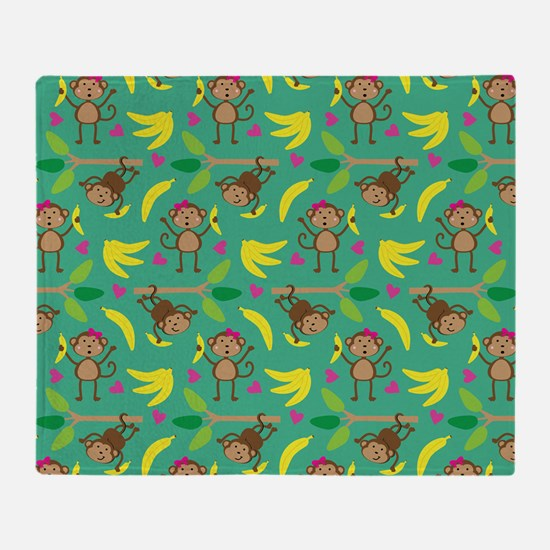 Boy and Girl Monkeys Throw Blanket