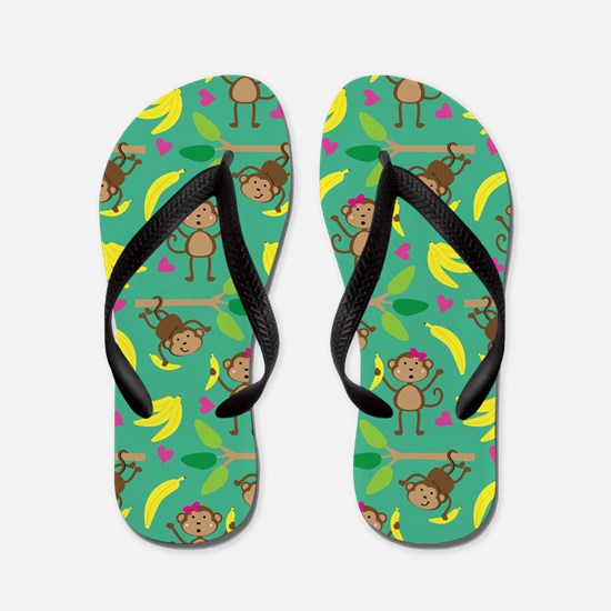 Boy and Girl Monkeys Flip Flops