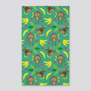 Boy and Girl Monkeys 3'x5' Area Rug