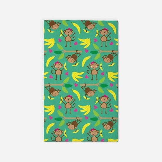 Boy and Girl Monkeys 3'x5' Area Rug