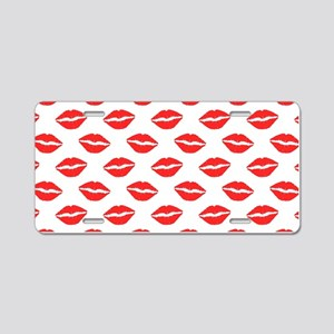 Red Lips Pattern Aluminum License Plate