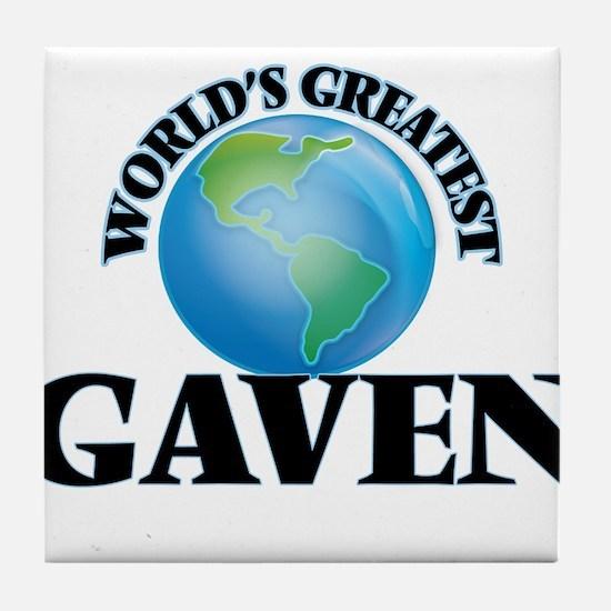 World's Greatest Gaven Tile Coaster